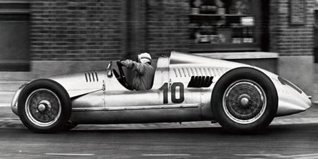 Hans Stuck piloting the Auto Union Type D